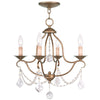 Livex Lighting Chesterfield Antique Gold Leaf Mini Chandelier 6424-48