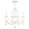Livex Lighting Chesterfield Antique White Mini Chandelier 6424-60