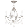 Livex Lighting Chesterfield Brushed Nickel Mini Chandelier 6424-91