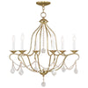 Livex Lighting Chesterfield Polished Brass Chandelier 6426-02