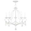 Livex Lighting Chesterfield Antique White Chandelier 6435-60