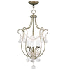 Livex Lighting Chesterfield Antique Brass Foyer 6436-01