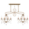 Livex Lighting Chesterfield Antique Gold Leaf Island/Chandelier 6437-48