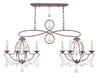 Livex Lighting Chesterfield Hand Applied Venetian Golden Bronze Island/Chandelier 6437-71