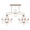 Livex Lighting Chesterfield Hand Painted Antique Silver Leaf Island/Chandelier 6437-73