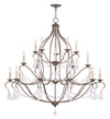 Livex Lighting Chesterfield Hand Applied Venetian Golden Bronze Chandelier 6439-71