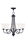 Livex Lighting Ridgedale Black Chandelier 6475-04