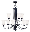 Livex Lighting Ridgedale Black Chandelier 6489-04