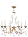 Livex Lighting Pennington Antique Gold Leaf Chandelier 6516-48