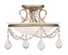 Livex Lighting Chesterfield/Pennington Hand Painted Antique Silver Leaf Ceiling Mount 6523-73