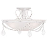 Livex Lighting Chesterfield/Pennington Antique White Ceiling Mount 6524-60
