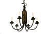 "Meyda 17.5""W Tuscan Vineyard Frosted Green 6 Lt Wine Bottle Chandelier"