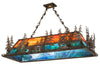 "Meyda 53""L Moose Through The Trees Oblong Pendant"