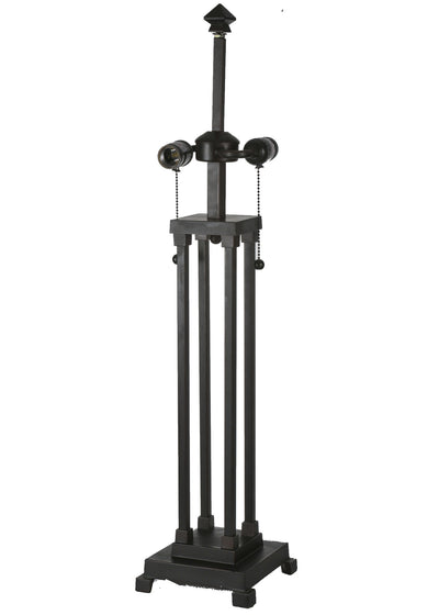 "Meyda 28""H 4 Column Mission Table Base/2 Lt""S"""