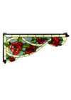 "Meyda 29""W X 13""H Bed Of Roses Left Corner Bracket"