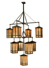 "Meyda 48""W Church Street 9 Lt Hanging Lantern Chandelier"