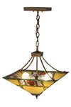 "Meyda 17""Sq Pinecone Ridge Inverted Pendant"