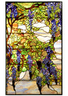 "Meyda 25.5""W X 42""H Tiffany Wisteria & Snowball Stained Glass Window"