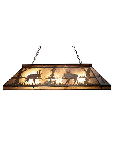 "Meyda 61""L Moose At Lake Oblong Pendant"