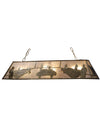 "Meyda 60""L Pool Hall Oblong Pendant"