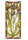 "Meyda 12""W X 28""H Iris Stained Glass Window"