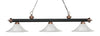 Z-Lite Rivera Matte Black & Antique Copper 200-3MB+AC-FWM16 Island/Billiard Light