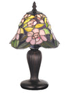 "Meyda 13""H Begonia Mini Lamp"