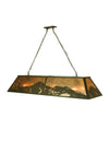 "Meyda 60""L Mountain Range Oblong Pendant"