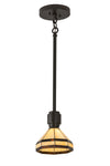 "Meyda 8""W Top Ridge Mini Pendant"