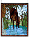 "Meyda 25""W X 30""H Deer Stained Glass Window"