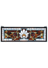 "Meyda 28""W X 9""H Beveled Ellsinore Transom Stained Glass Window"