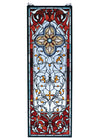 "Meyda 11""W X 32""H Versaille Quatrefoil Stained Glass Window"