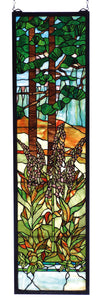 "Meyda 12""W X 44""H Tiffany Foxgloves Stained Glass Window"