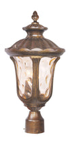 Livex Lighting Oxford Moroccan Gold Outdoor Post Lantern 7659-50