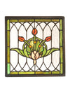 "Meyda 10.5""W X 10.5""H Tulip & Fleurs Stained Glass Window"