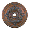 Livex Lighting Ceiling Medallions Crackled Bronze with Vintage Stone Accents Ceiling Medallion 8211-17