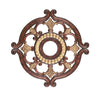 Livex Lighting Ceiling Medallions Verona Bronze with Aged Gold Leaf Accents Ceiling Medallion 8216-63