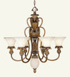 Livex Lighting Savannah Venetian Patina Chandelier 8456-57