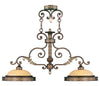 Livex Lighting Seville Palacial Bronze with Gilded Accents Island 8522-64