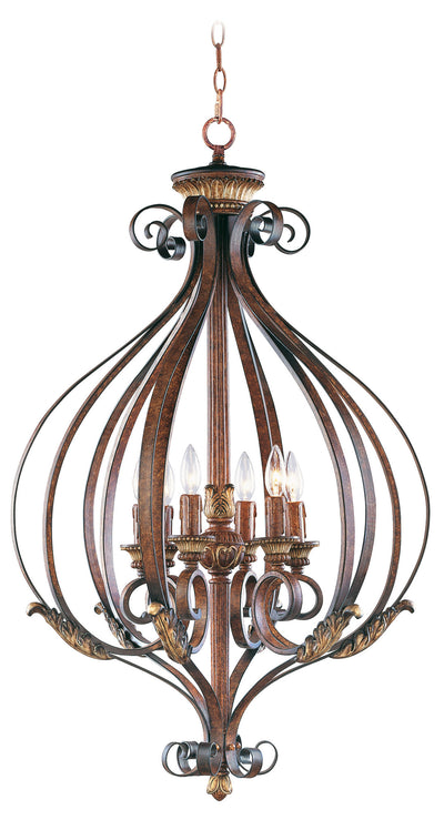 Livex Lighting Villa Verona Verona Bronze with Aged Gold Leaf Accents Foyer 8558-63