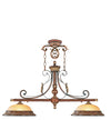 Livex Lighting Villa Verona Verona Bronze with Aged Gold Leaf Accents Island 8582-63