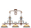 Livex Lighting Villa Verona Verona Bronze with Aged Gold Leaf Accents Island 8584-63