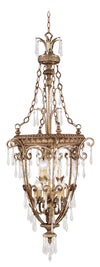 Livex Lighting La Bella Hand Painted Vintage Gold Leaf Foyer 8816-65