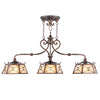 Livex Lighting Bristol Manor Palacial Bronze with Gilded Accents Island 8828-64