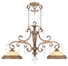 Livex Lighting La Bella Hand Painted Vintage Gold Leaf Island 8882-65