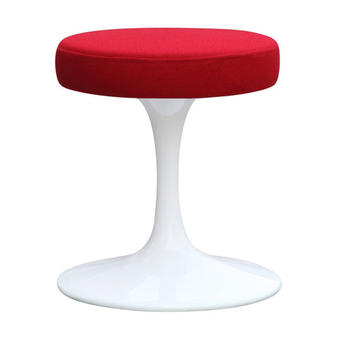 "Fine Mod Imports Flower Stool Chair 16"", Red - Sky Home Decor"
