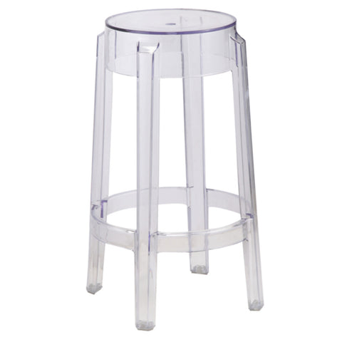 Fine Mod Imports Clear Counter Stool, Clear - Sky Home Decor