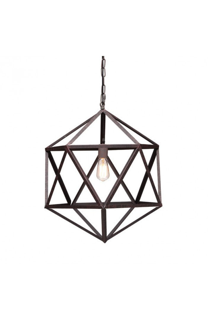 Zuo Mod Amethyst Ceiling Lamp Small Rust