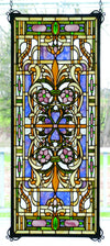 "Meyda 12""W X 30""H Estate Floral Stained Glass Window"