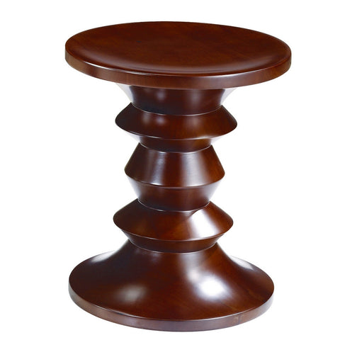 Fine Mod Imports Walnut Stool Style C, Walnut - Sky Home Decor